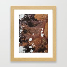Copper abstract liquidity. Framed Art Print