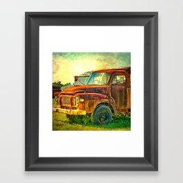 Old Rusty Bedford Truck Framed Art Print