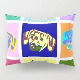 Dachshund Pop Art Pillow Sham