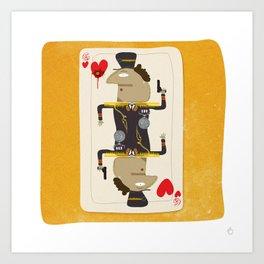 Colonel Gaddafi - 'The House always Wins' Art Print