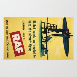 Vintage poster - Royal Air Force Rug