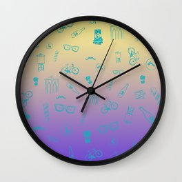 So Brooklyn 80's edition Wall Clock
