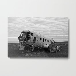 Never Moving B&W Metal Print