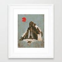 castle Framed Art Prints featuring hidden castle by Steven Toang