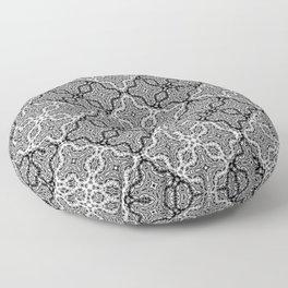 black and white Damascus ornament Floor Pillow