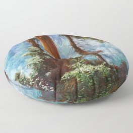 The Forrest Through the Trees Floor Pillow