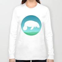 manatee Long Sleeve T-shirts featuring Manatee by tuditees