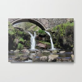 Three Shires Head Waterfall Metal Print