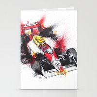 senna Stationery Cards featuring Senna, a true hero. by Claeys Jelle Automotive Artwork