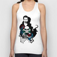 captain hook Tank Tops featuring Shadows The Captain Hook by Mad42Sam