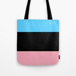 Black Trans Flag Tote Bag