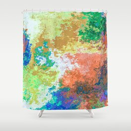 Colorful Patches Shower Curtain