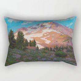 Crown Of The Cascades Rectangular Pillow