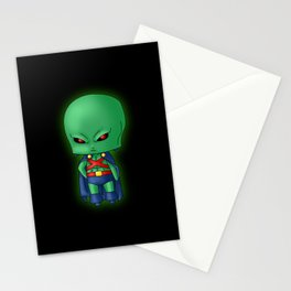 Chibi Martian Manhunter Stationery Cards