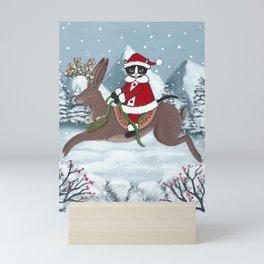 Santa Claws and the Jackalope Mini Art Print