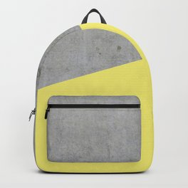Concrete and Yellow Color Backpack
