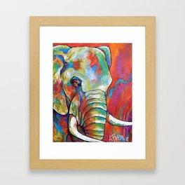 Endangered Forest Elephant Framed Art Print