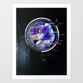 Space Glitch 2 Art Print