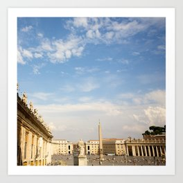 St. Peter's Square In Vatican Art Print