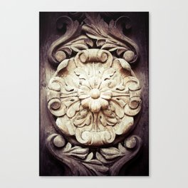 Wood Flower Canvas Print