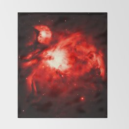 Orion NeBULA : Red Throw Blanket