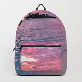 SUNSET AND PALM TREES Backpack