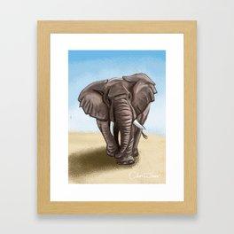 The Majestic Elephant Framed Art Print