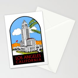 Los Angeles city hall Stationery Cards