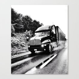 Trucking Canvas Print