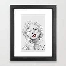 Michelle Williams as Marilyn Framed Art Print