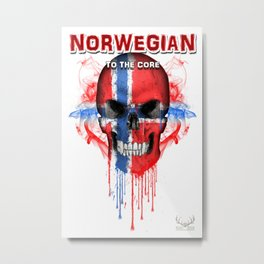To The Core Collection: Norway Metal Print