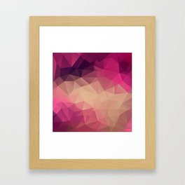 Polygon picture . Sunset. Framed Art Print
