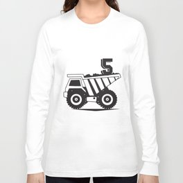 5th bithday for son t-shirts Long Sleeve T-shirt