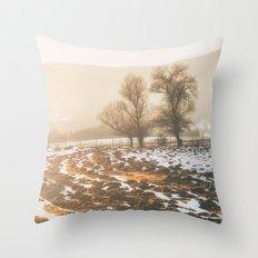 Morning field Throw Pillow