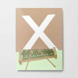 X-Xylophone Metal Print