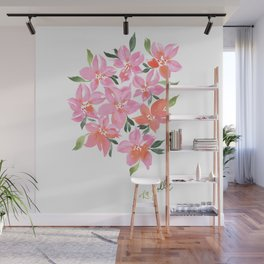 Pink Orchids Wall Mural