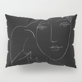 Picasso Line Art - Dove and Woman Pillow Sham