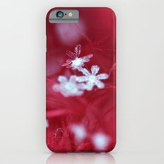 Red Snowflake Slim Case iPhone 6