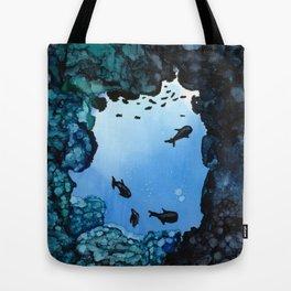Fish - Alcohol Ink Tote Bag