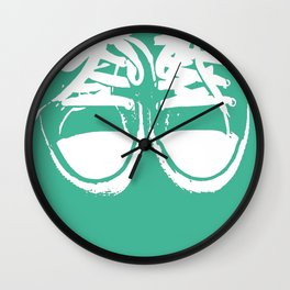 Colorful Converse Sneakers in Sea-foam Green. Wall Clock