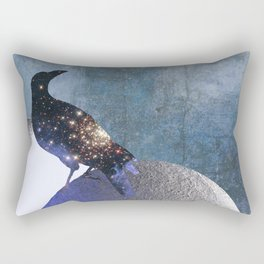 New worlds thought Crow Rectangular Pillow