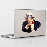 sam smith Laptop & iPad Skins featuring Uncle Sam by ArtSchool