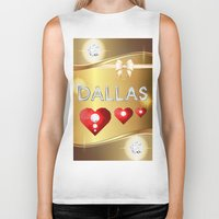 dallas Biker Tanks featuring Dallas 01 by Daftblue