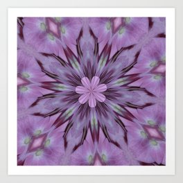 Floral Abstract Of Pink Hydrangea Flowers Art Print