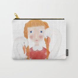 Girl with the swans Carry-All Pouch