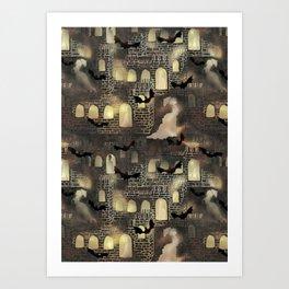 haunted castle Art Print
