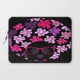 Afro Diva Pink Purple Laptop Sleeve