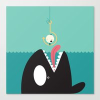 orca Canvas Prints featuring orca by Alfonso Cervantes