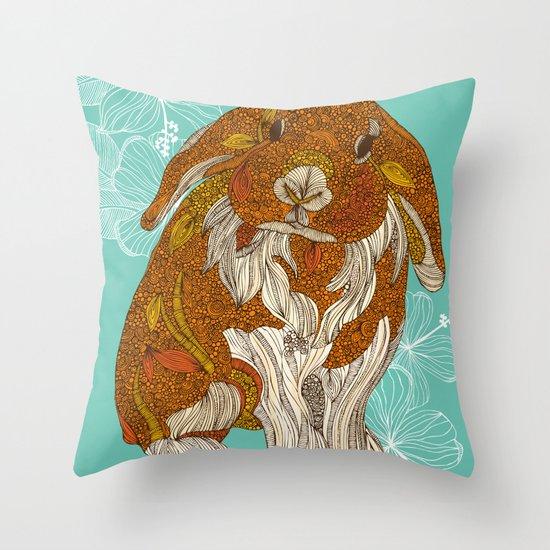 Hello little bunny Throw Pillow