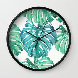 Leaves Palm 3 Pattern Wall Clock